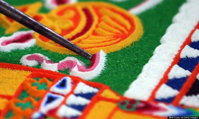 Sand-painting-Tibet